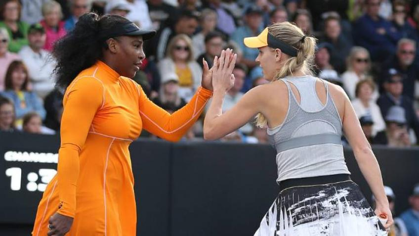 Serena Williams and Caroline Wozniacki shine in Auckland