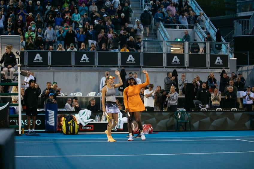 Serena Williams misses a chance to experience ASB Classic double delight