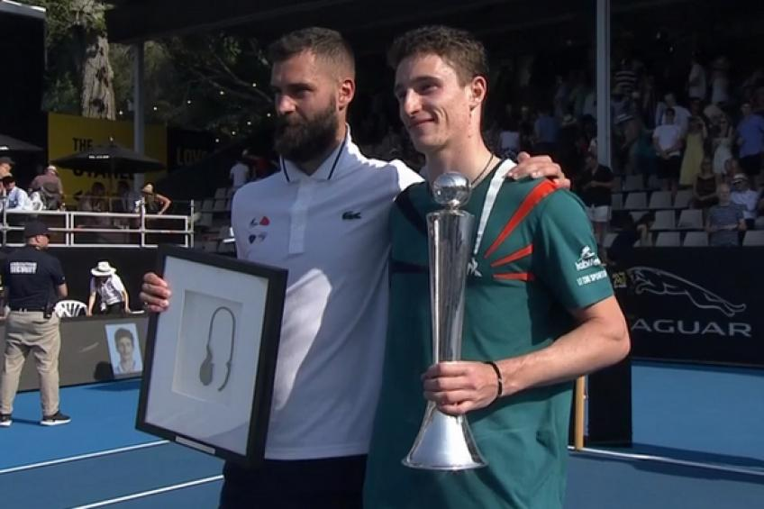 Humbert wins first ATP title in Auckland