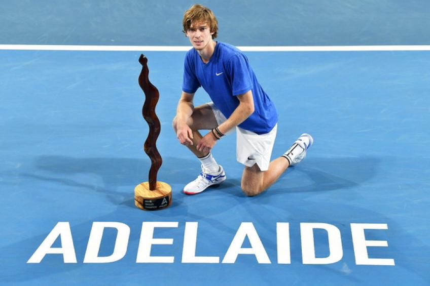 ATP Adelaide: In-form Andrey Rublev destroys Lloyd Harris to lift trophy