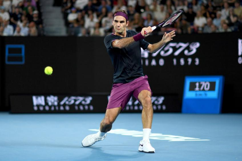 Roger Federer celebrates milestone 100th Australian Open win in big style