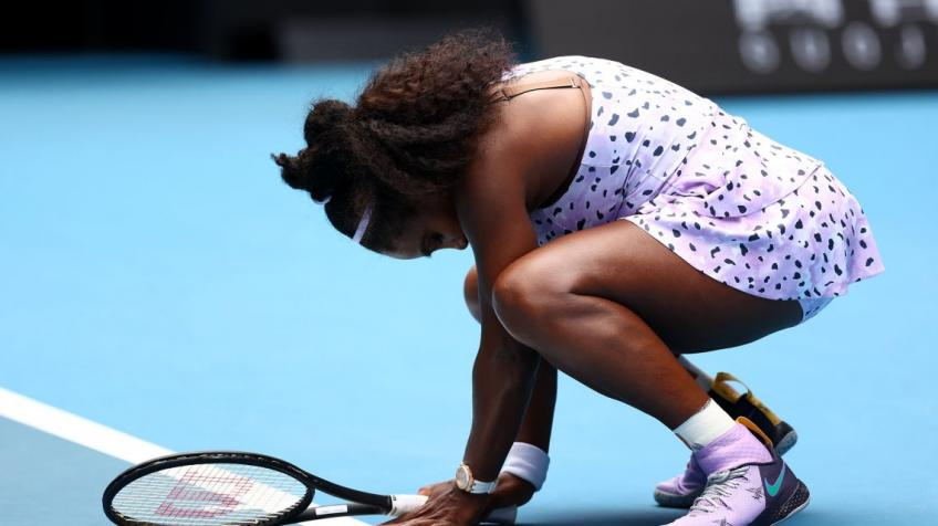 Serena Williams suffers earliest exit from Australian Open:'It's all on my shoulders'