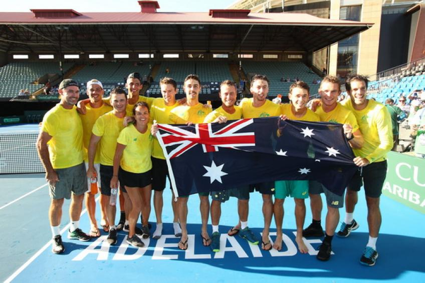 Lleyton Hewitt praises his squad ahead of the Davis Cup clash with Brazil