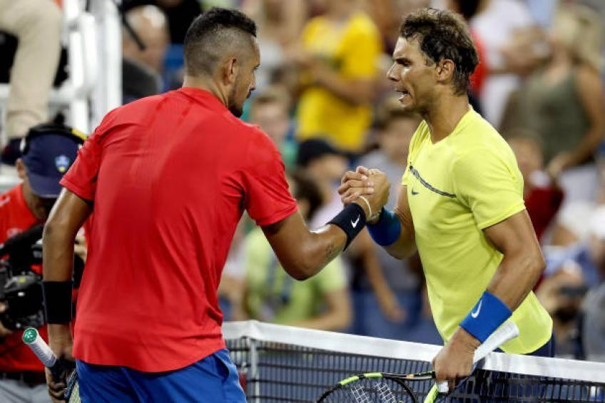 Nick Kyrgios shows respect for Rafael Nadal ahead of ...