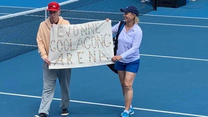 Martina Navratilova and John McEnroe Apologise for Breaking Protocol
