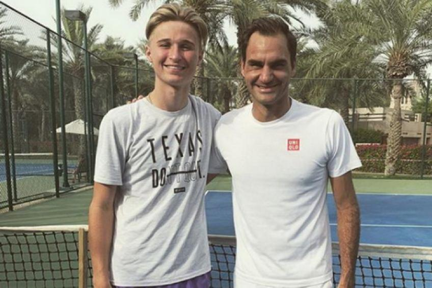 Top-ranked Swiss junior after a practice run with Roger Federer: 'It was incredible'