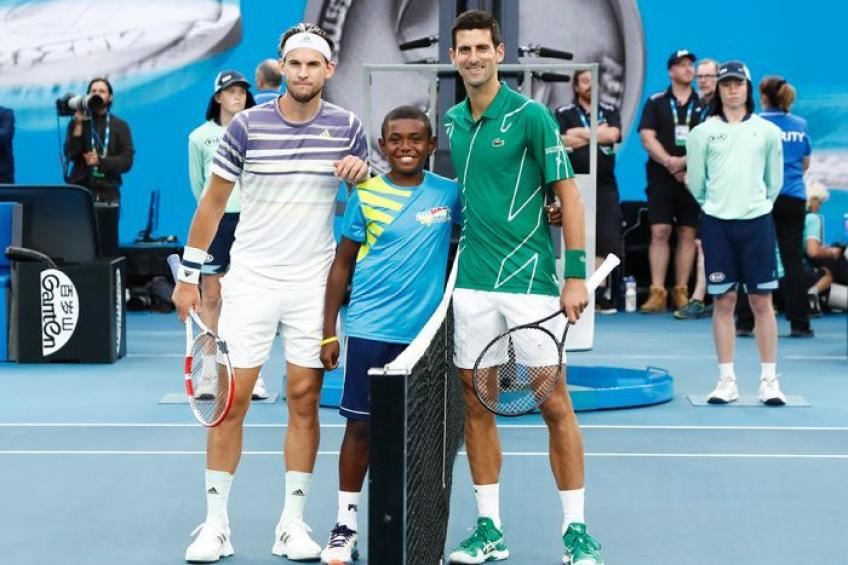 10-Year-Old Coin Tosser:I was so happy to get a hug from Novak Djokovic & Thiem