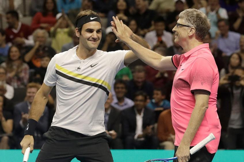 Federer and Nadal meet to raise money for childrens education in Africa