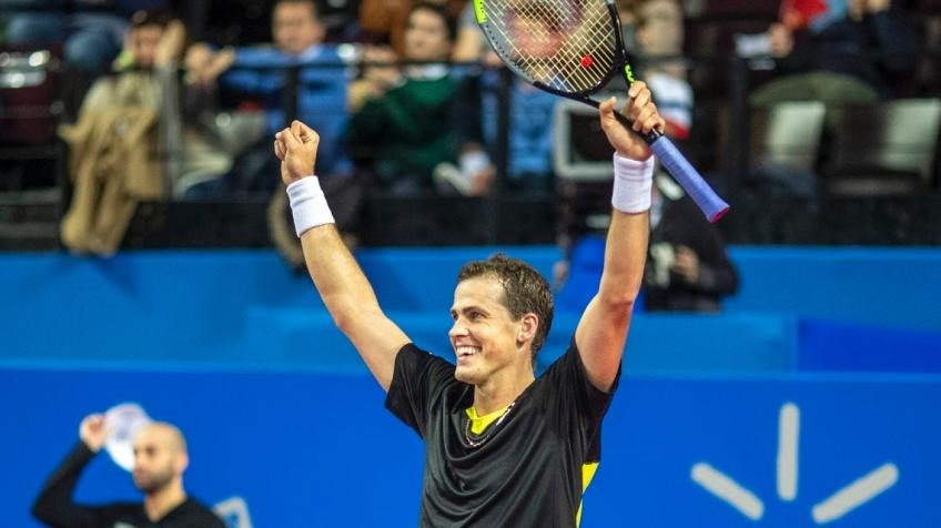 Monfils Masters Pospisil For Third Montpellier Title