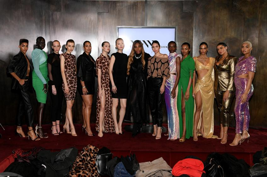 Serena Williams Displays Collection at New York Fashion Week