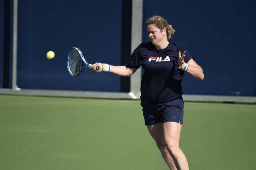 Kim Clijsters jokes: 'My son Jack hopes I would lose early in Dubai and get home'