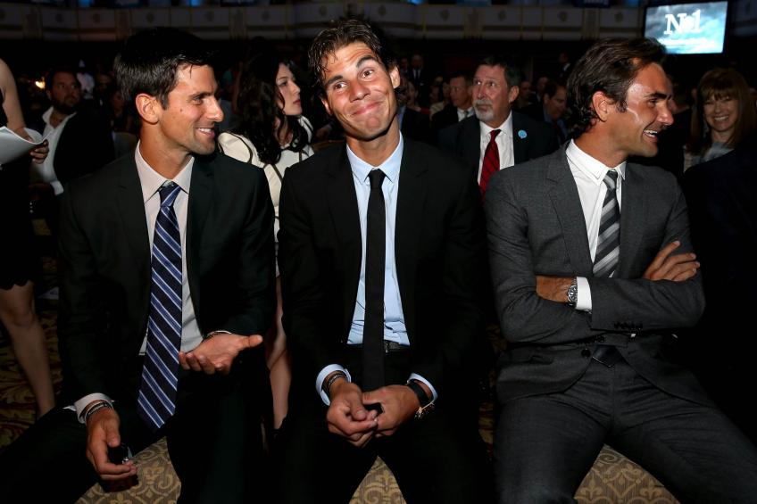 Novak Djokovic on sharing locker room with Rafael Nadal and Roger Federer