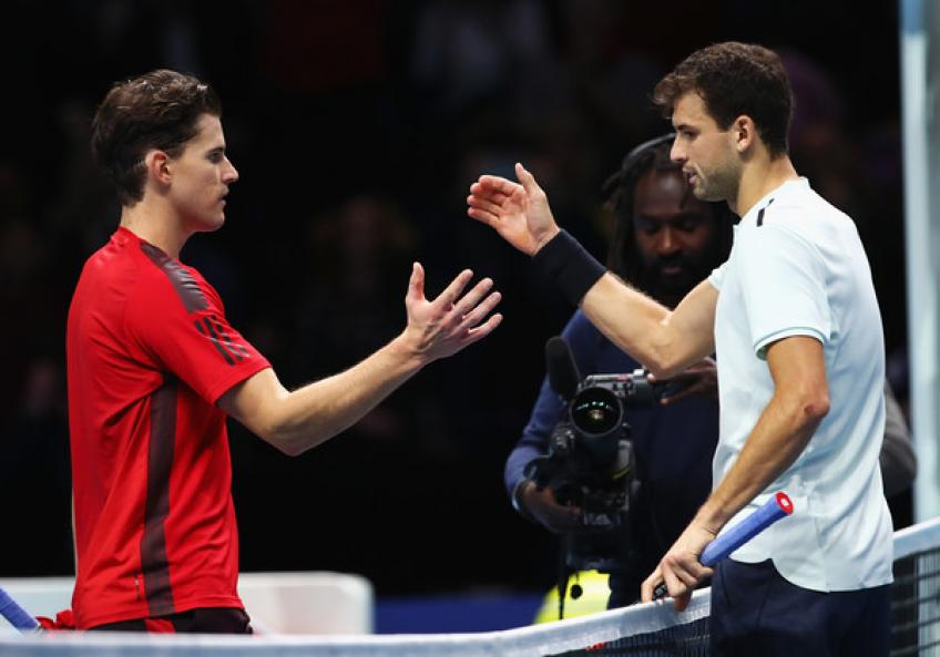 Dominic Thiem and Grigor Dimitrov team up for doubles in Indian Wells