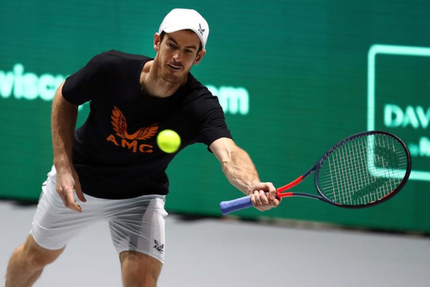 Andy Murray hits practice court again, hoping to get back as soon as possible