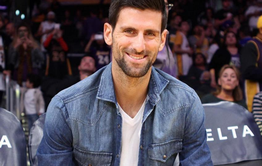 Novak Djokovic Watches NBA Game At Staples Center