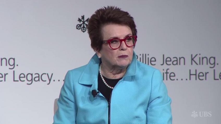 Billie Jean King Joins UBS Initiative on Gender Equality