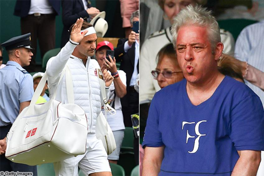 Roger Federer made UK Speaker Bercow lose his temper each time he had lost a match