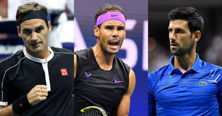 Who are the players who've beaten Roger Federer, Nadal, Djokovic most times?