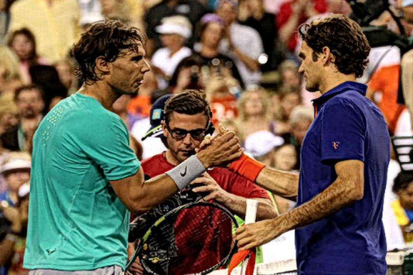 ThrowbackTimes Indian Wells: Rafael Nadal sinks Roger Federer in their first ever..