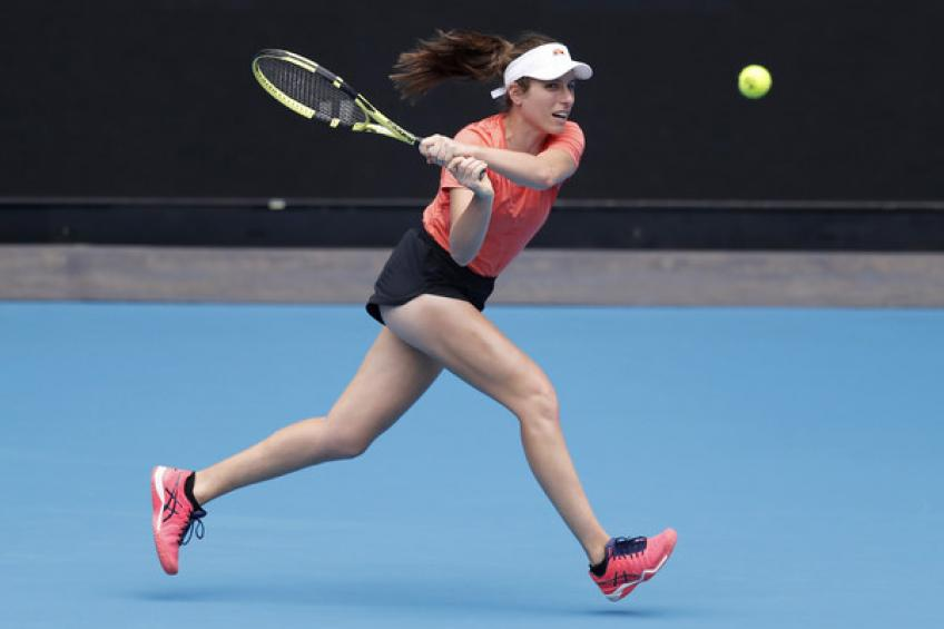 """Johanna Konta: The situation is not good for my knee but I'm not getting stressed"""""""
