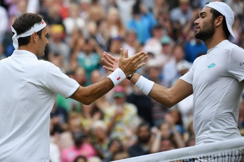 Matteo Berrettini: 'Roger Federer played a perfect match at Wimbledon, helping me..'