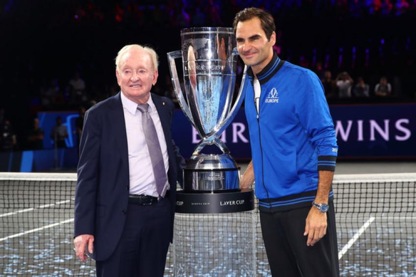 Rod Laver supports Roger Federer - From one legend to another