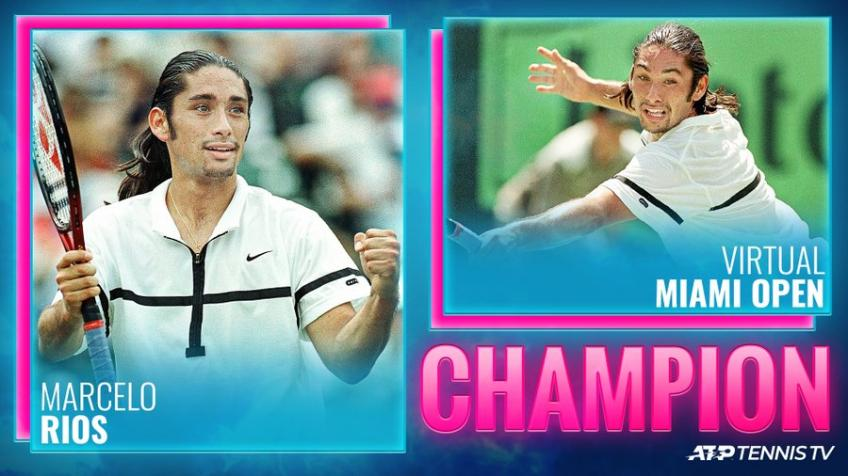 Marcelo Rios Defeats Roger Federer in the Virtual Miami Open Tennis Tournament