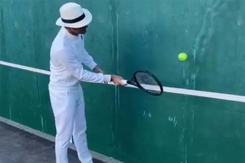 Roger Federer dares Rafael Nadal, Ronaldo, Messi to show off their home workouts