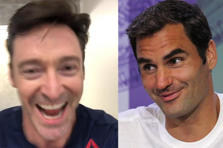 Roger Federer makes Hugh Jackman go beast mode and climb 15 floors of stairs