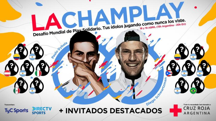 Diego Schwartzman and Paulo Dybala team up to collect funds for the Red Cross