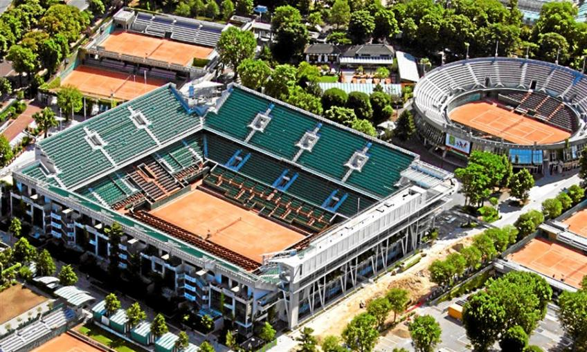 Work on French Open Site Continues While Maintaining Social Distancing