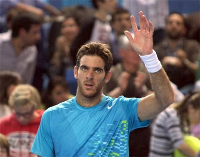 Del Potro saves match points to beat Baghdatis in a marathon in Dubai