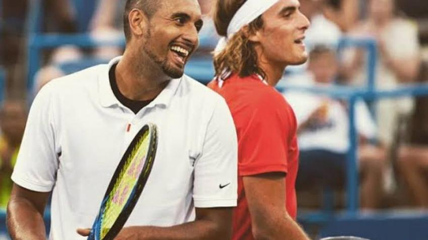 Nick Kyrgios Reveals Stream of Messages After Tsitsipas Birthday Prank