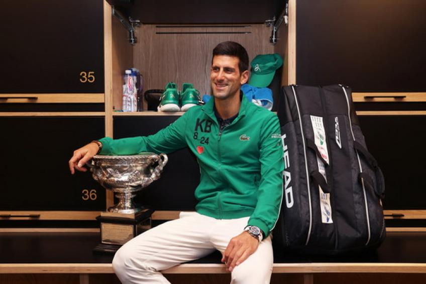 Novak Djokovic hits practice court before Roger Federer and Rafael Nadal