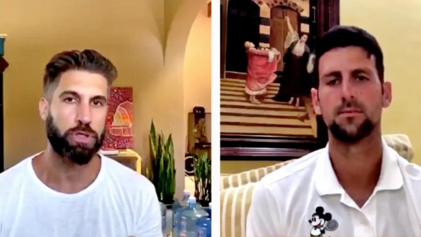 Novak Djokovic Slammed for Comments About Food & Water on his Instagram Live Show