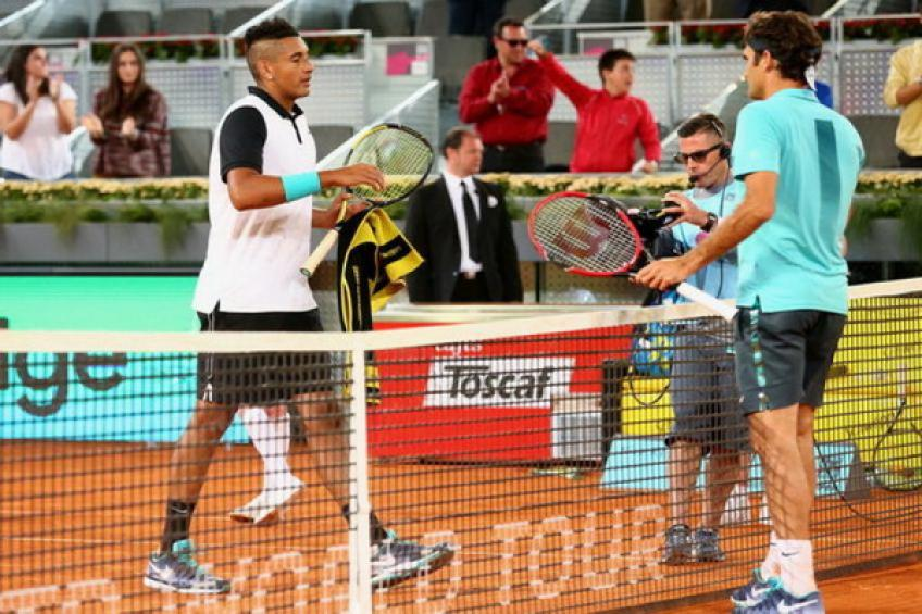 ThrowbackTimes Madrid: Nick Kyrgios wins poker clash against Roger Federer