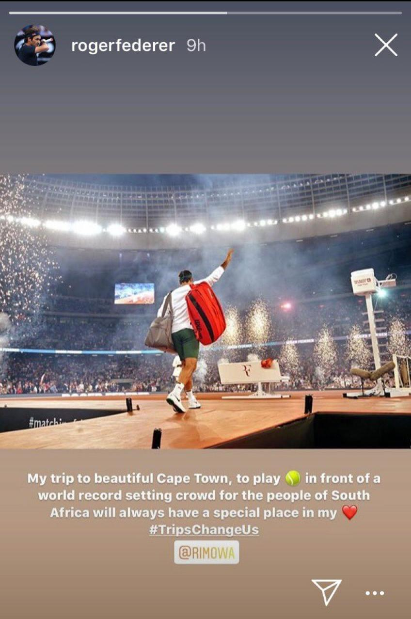 Roger Federer: My trip to Cape Town will always have a special place in my heart