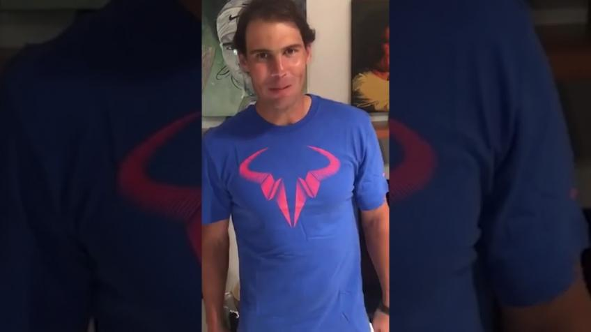 Rafael Nadal on Living Room Cup: Been resting & recovering so wasn't able to compete