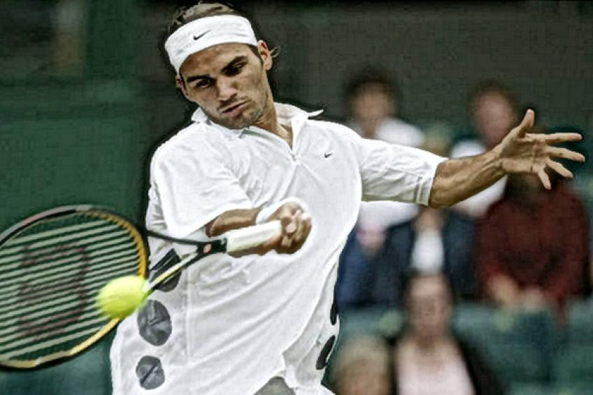 In Roger Federer's words: 'I was in a hurry to finish the match before dark'