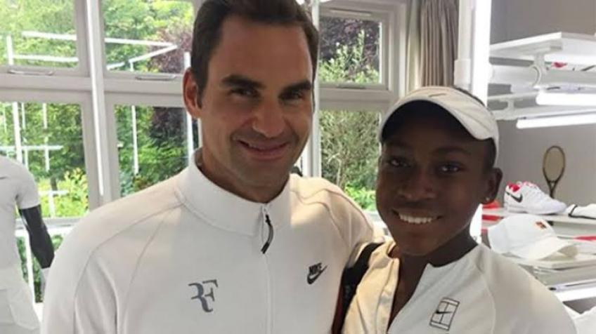 Coco Gauff reacts to Roger Federer's post on Blackout Tuesday