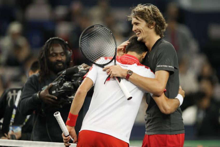 Alexander Zverev: Novak Djokovic is a champion and one of the best players ever