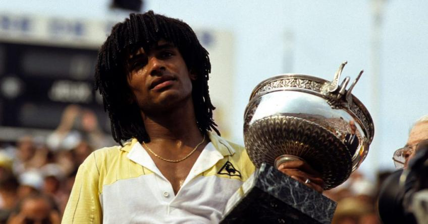 Gael Monfils to Yannick Noah: You holding French Open trophy with one hand was great