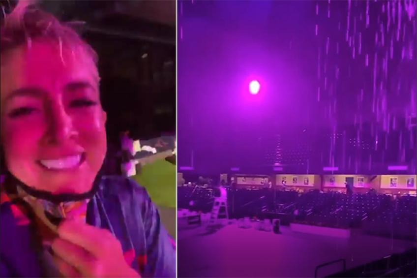 """Bouchard, Stephens, Sands party in the """"Purple Rain"""" at Charleston exhibition"""