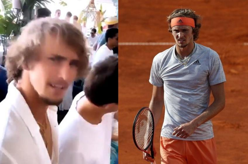 Sascha Zverev doesn't respect self-isolation and celebrates with his girlfriend