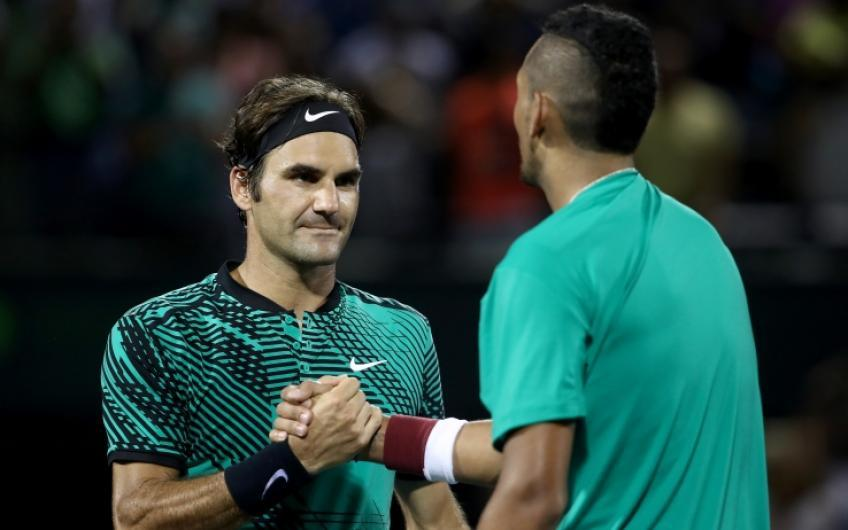 "Kyrgios: ""Roger Federer is the best of all time"""