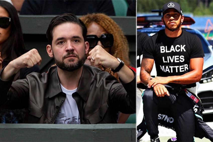 Serena Williams' husband salutes kneeled Lewis Hamilton's anti-racism message