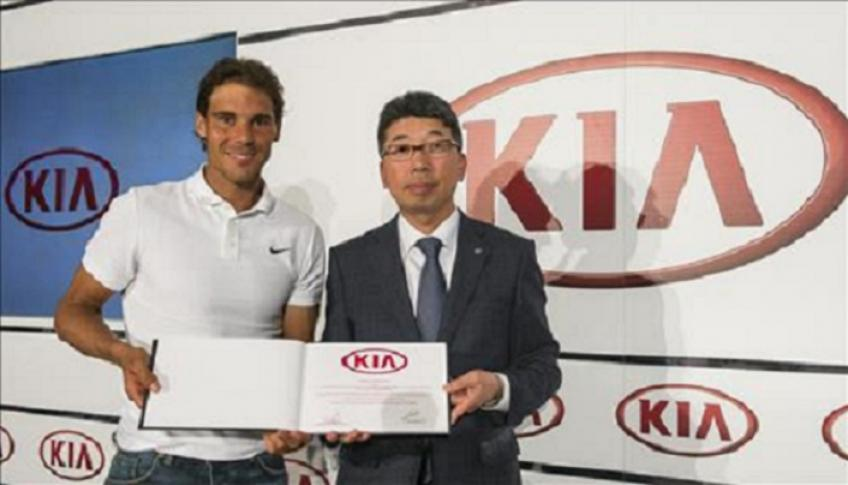 Rafael Nadal and Kia Motors Corp announce a five year partnership renewal