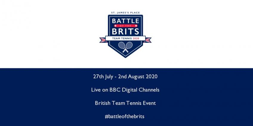 Teams announced for the Battle of the Brits Team Tennis event
