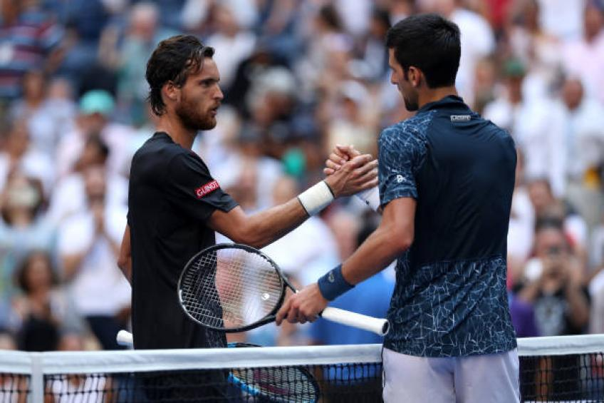 Joao Sousa on playing Novak Djokovic: It feels like playing against a wall
