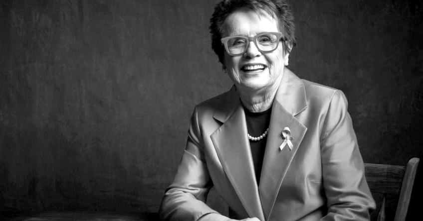 Billie Jean King and Tracy Austin take part in the  Women Supporting Women Challenge
